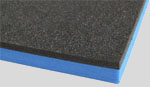 black and blue tool foam