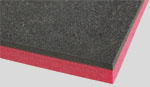 black and red tool foam