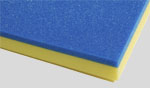 blue and yellow tool foam