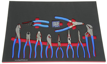 Foam Organizer F-02842-R1 with 10 Channellock Pliers