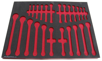 Foam Organizer for 24 Craftsman Wrenches