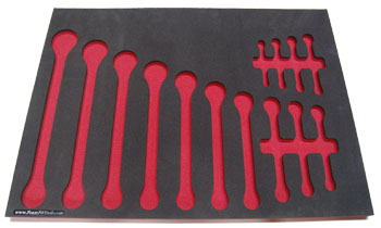 Foam Organizer for 14 Craftsman Inch Wrenches