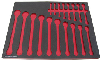 Foam Organizer for 18 Craftsman Metric Wrenches