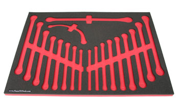 Foam Organizer for 19 Craftsman Box Wrenches