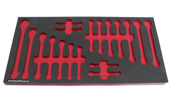 Foam Organizer for 18 Craftsman Wrenches