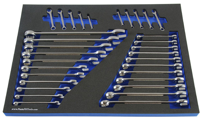 Foam Organizer for Craftsman Combination Wrenches from the 32-Piece Wrench Set