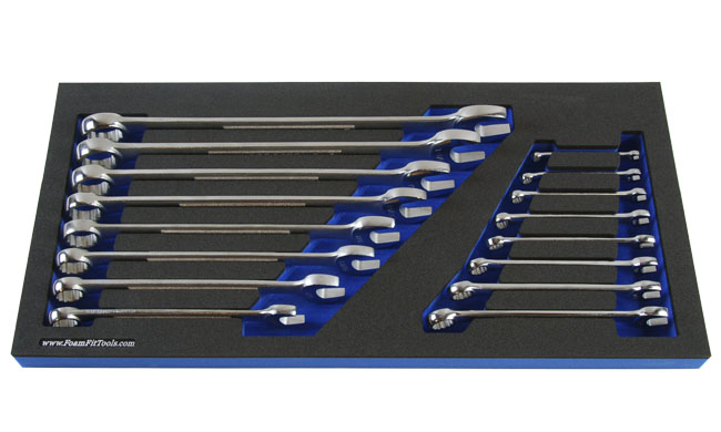 Foam Organizer for Craftsman Combination Wrenches from the 26-Piece Wrench Set