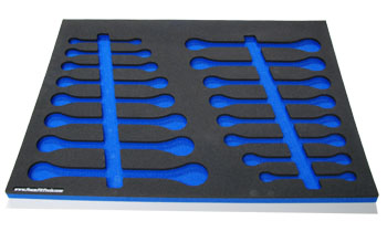 Foam Organizer for 16 Craftsman Ratcheting Full-Polish Wrenches