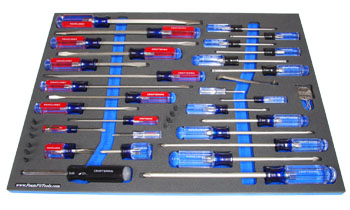 shadow screwdrivers with a FoamFit Tools organizer